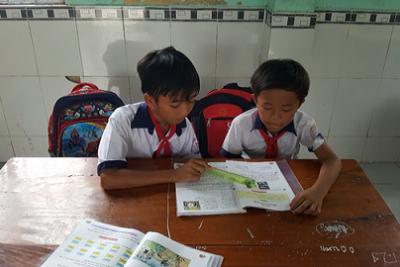 Học tập tốt, lao động tốt… lời dạy của Bác luôn là mục tiêu của em Lâm Thái Thuận lớp 4A4 điểm cái Nhum 3, Trường TH&THCS Phong Đông
