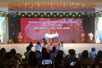 """Xã Phong Đông được công nhận xã đạt chuẩn nông thôn mới trong dịp tỉnh Kiên Giang tổng kết """"Tết quân-dân"""" năm 2020"""