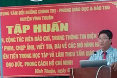 Trường TH&THCS Phong Đông tham gia lớp tập huấn cộng tác viên báo chí, trang tin điện tử năm 2019