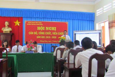 Trường TH&THCS Phong Đông tổ chưc Hội nghị Công chức, viên chức năm học 2019-2020