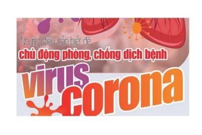 Khuyến cáo phòng chống bệnh do các chủng Corona tại nơi làm việc